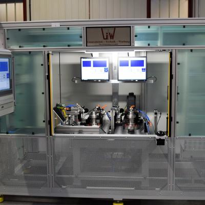 Automated noise test system for shaft gears