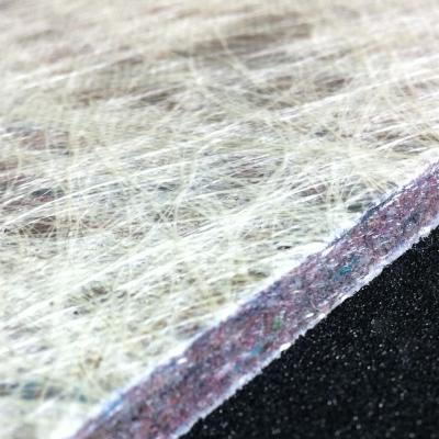Glass and recycled fiber insulation materials